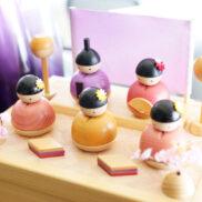 ことのひな人形(二段) | シンプルでかわいい木製雛人形