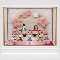 【福仙】花円雛10人揃いケース   小さくてかわいいお顔の雛人形通販
