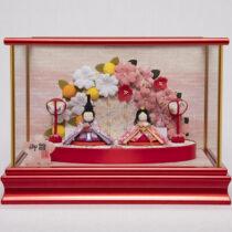 【福仙】ぷりてぃ舞桜花舞台ケース   桜がかわいいコンパクトな雛人形通販