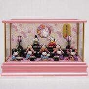 【福仙】ちりめん雛10人揃いケース | 赤ちゃんみたいに可愛い雛人形通販