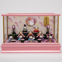 【福仙】ちりめん雛10人揃いケース   赤ちゃんみたいに可愛い雛人形通販